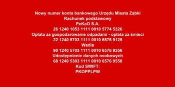 Rachunki bankowe Urzędu Miasta Ząbki